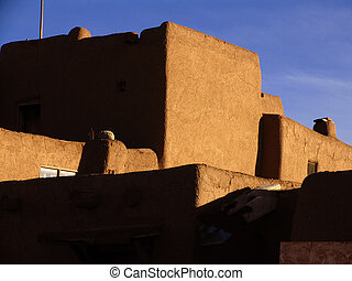 Taos Pueblo - Pueblo house in Taos Pueblo.