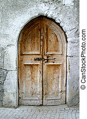 old little door - old little wooden door
