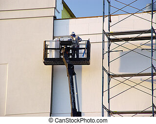 Lift - Photo of a Worker on a Lift.