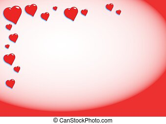 Hearts background - Love hearts background border design....