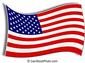 American Flag - American flag illustration.