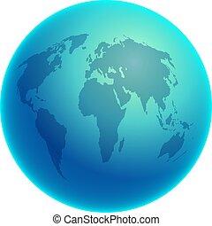 Blue Globe - Blue globe of the world.