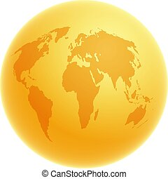 Golden Globe - Golden globe illustration.