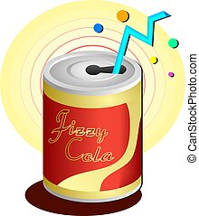 Soda Drink - Canned soda drink with straw