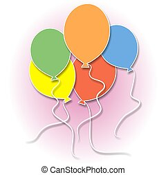 Balloons illustration.
