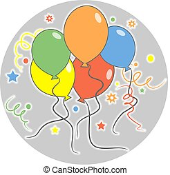 Party balloons - party balloons design.