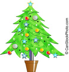 Christmas Tree - Bevelled Christmas tree design.