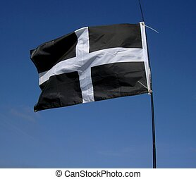 Cornish Flag - Flag of Cornwall, UK