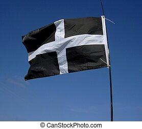 Cornish Flag - Flag of Cornwall, UK.