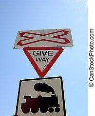 Railway Crossing - Railway crossing signs.