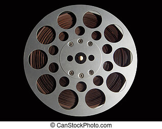 Audio Tape Reel - Detail of a 1970 Audio Tape Aluminium Reel