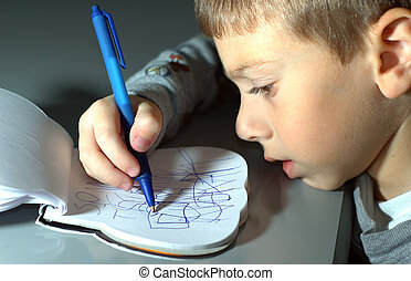 Toddler Drawing - Photo of a Toddler Drawing