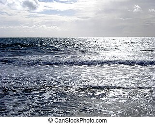 Silver Sea - Beautiful silver seascape.