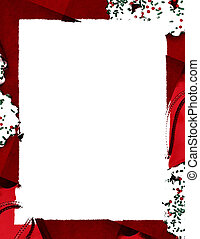 Cookie Border - Abstract Christmas cookie border