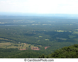River Valley in Arkansas from the top of Mt. Nebo.