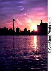 Toronto Skyline - Toronto Ontario Canada Skyline sunset
