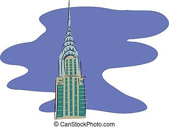 Chrysler building Illustrations and Clip Art. 78 Chrysler ...