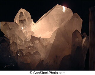 Quartz Crystal - 180 million year old quartz crystal cluster