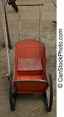 Christmas sled - Vintage childs sled found at auction in...
