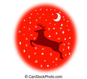 Reindeer In The Sky - Holiday Spirit - Get creative & use...