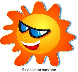 Cool Sun - The sun wearing sunglasses and looking cool.