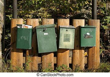 correio, caixas