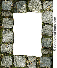 Cobblestone Border - A cobblestone border sized for a 8 12 X...