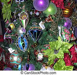 Christmas BG 0334 - Christmas tree and ornaments for...