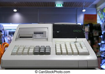 Cash register in a store