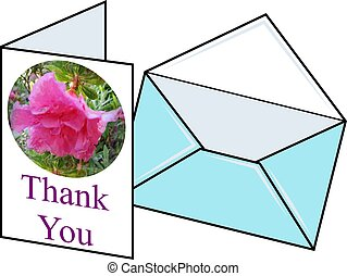 Thankyou Card - Thankyou card and envelope design.