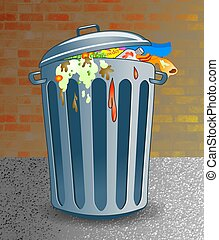 Trash - trashcan illustration