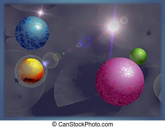 Planets - Coloured planets design.