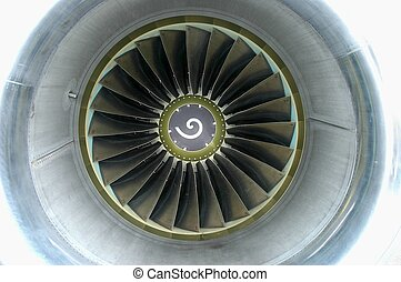 737 Engine intake - the engine intake and fan on a boeing...