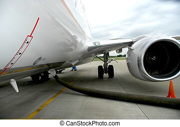 737 ingestion haz - Side of 737 fusalage with engine intake...