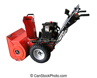 Snow Blower - A cut out of a snow blower