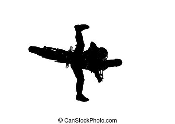 MX Silhouette - Silhouette of a Motocross rider