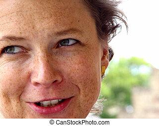 freckles 2 - woman's portrait