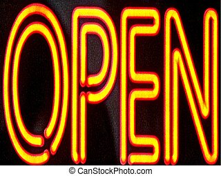 We are Open - Open sign at a dealership