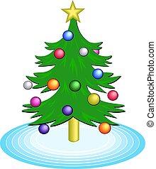 Christmas Tree - Decorated Christmas tree illustration.