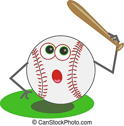 Baseball playing baseball