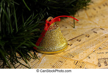 Christmas Music - Photo of A Ornament and Sheet Music