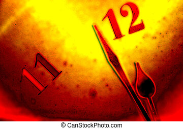 Time background II - Grunge clock face background with...