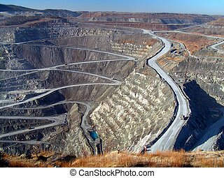 black lake mine - asbestos open pit mine
