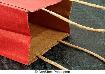 Red Giftbag - Photo of a Red Giftbag