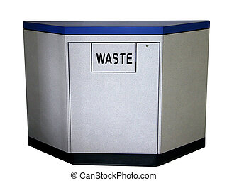 With Clipping Path - Large waste container with swing door...