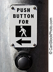 Crosswalk - A close up of a crosswalk button.