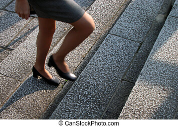 Stepping - Business concept:building a career step by step...