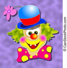 Happy Clown - Happy smiling clown illustration