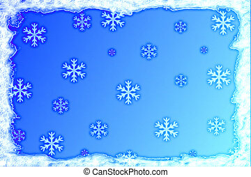 Frosty Background - Frosty snowflakes background design