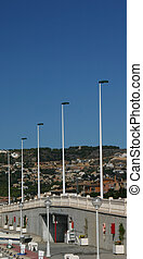 bridge and lights - Bridge into Javea Costa Blanca Spain